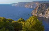 岩の崖の海岸 — ストック写真