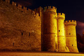Towers and battlements of the Order of the Knights Castle — Stock Photo