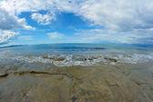 Rocks on the beach on island of Corfu in Greece — Stockfoto