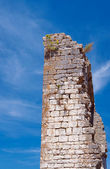 The ruins of the medieval walls — Stock Photo