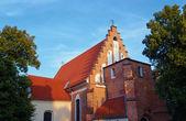 Фасад здания готической церкви — Стоковое фото