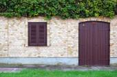 Detail of beautiful rustic house facade — Stock Photo