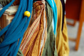Background of colorful clothes — Stock Photo