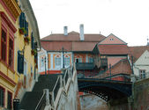 Urban scene across built up area in Hermannstadt, Romania — 图库照片