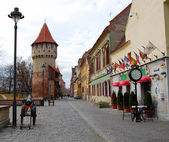 Street view in Hermannstadt, Romania — 图库照片