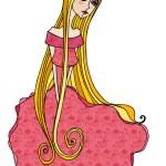 Cute romantic princess — Stock Vector #61038381