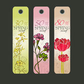 Spring discount tags — Stock Vector