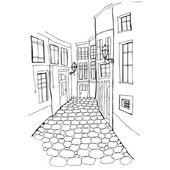 Belle rue — Vecteur
