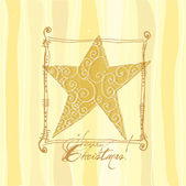 Christmas greeting card with star — Vector de stock