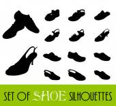 Shoe silhouettes — Stock Vector
