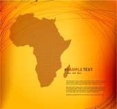 Background with Africa map — Stock Vector