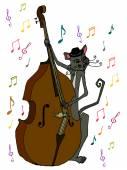 Musician cat — Stock Vector