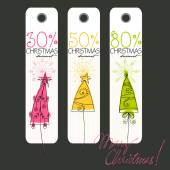 Christmas price tags — Stock Vector