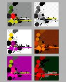 Business card set with ink splashes — Stock Vector