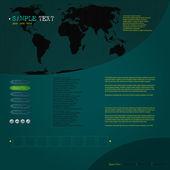 Modern website template — Stock Vector
