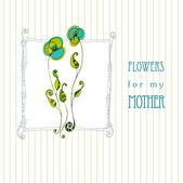Greeting design for mother's day — Vettoriale Stock
