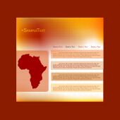 Website template with Africa continent — Stock Vector