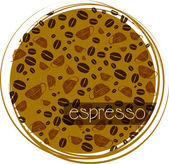 Background for coffee coaster — Stock Vector