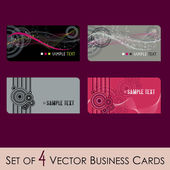 Set of business cards — Stock Vector
