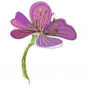 Cute flower — Stock Vector