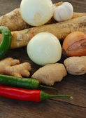 Healthy seasonal vegetables — Stock Photo