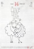 Valentine's day design — Stock Photo