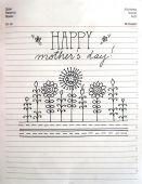 Retro Mother's Day card design — Stock Photo