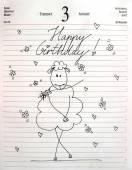 Retro Birthday card design — Stock Photo