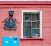 Building's facade with windows — Stock Photo
