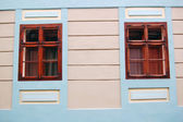 Building's facade with windows — Stock Photo