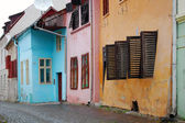 Street with colorful houses — Stock Photo