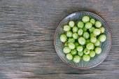 Background with Fresh gooseberries — Stock Photo