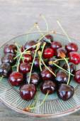 Background with sweet cherries — Stock Photo