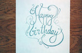 Vintage Happy Birthday calligraphic text — Photo