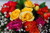 Bouquet of colorful flowers for birthday — Stock Photo