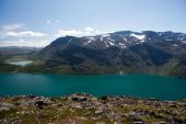 Besseggen Ridge in Jotunheimen National Park, Norway — Stock Photo