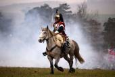 Askeri kostüm, Austerlitz geçmiş fan — Stok fotoğraf