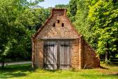 Shed of brick on a farm — Stock Photo