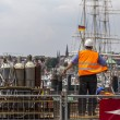 Construction site at harbor — Stock Photo #56072917