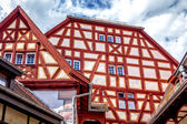 Half-timbered houses in the town of Ladenburg — Stok fotoğraf