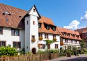 Beautifully restored half-timbered houses in the old town of Ladenburg, Baden Wurttemberg — Stock Photo