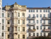 Restored house facade in berlin — Stock Photo