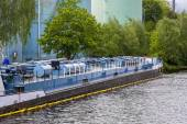 Barge in berlin — Stock Photo