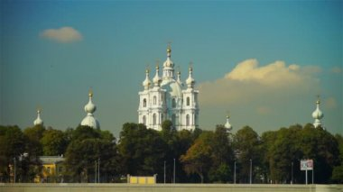 Scenic view on Smolensky Cathedral — Stock Video