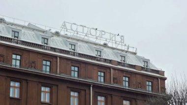 Sign-board of 5 Star Hotel Astoria — Stock Video