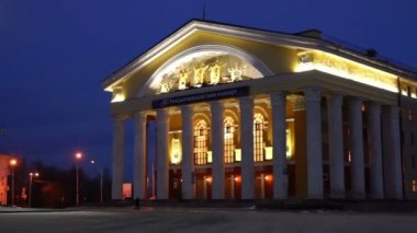 Evening view on Russian Dramatic Theater — 图库视频影像
