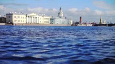 View at Kunstkamera museum, St. Petersburg, Russia — Stock Video
