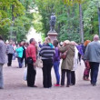 Lot Of People In Park At Summer Day — Stock Video #74266625