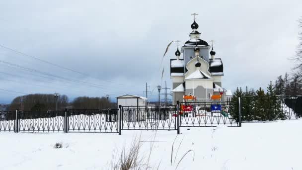 Iglesia ortodoxa en Castellon — Vídeo de stock