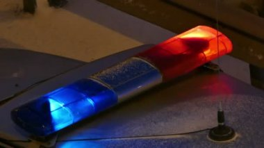 Police Lights Red And Blue — Stock Video